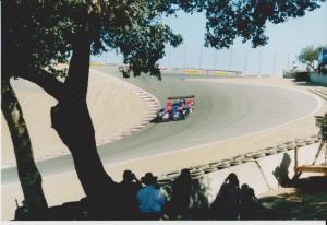 Panoz LMP 01 down The Corkscrew.