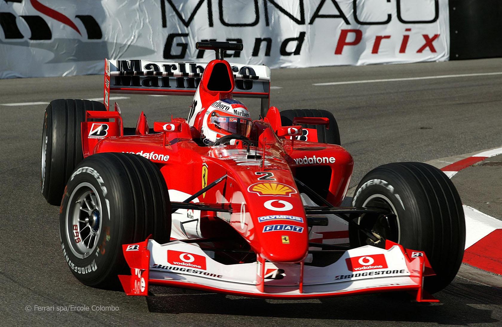 Ferrari F2003-GA Demonstration Laps from the 2004 Monterey Historic ...